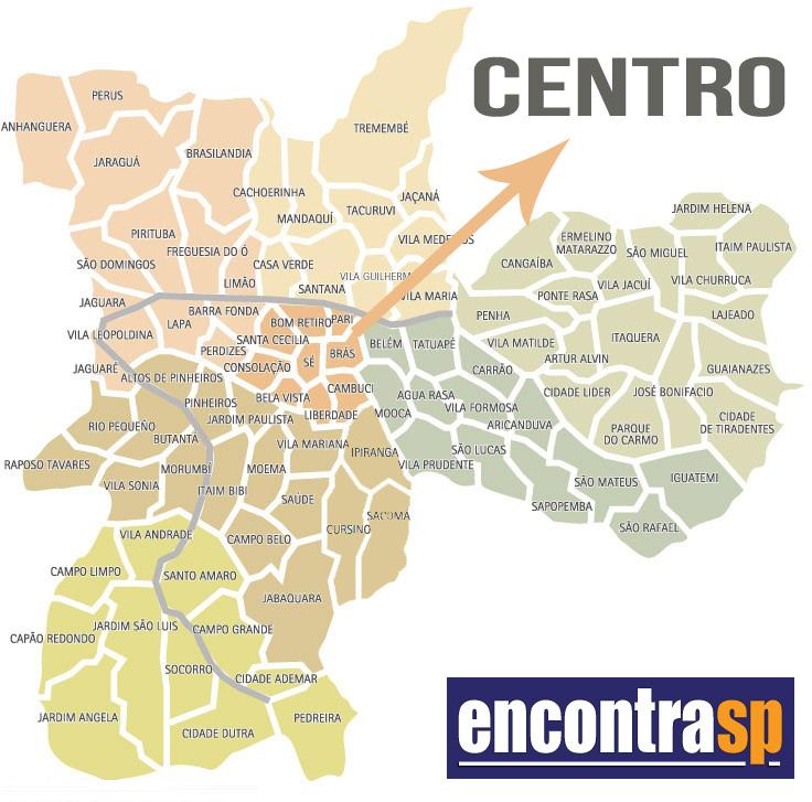 b6b73261d Mapa do Centro de SP, São Paulo - Encontra São Paulo